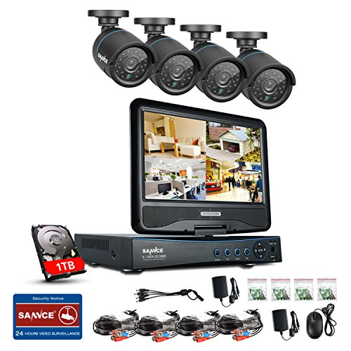 Sannce 8CH 1080N HD Security DVR Recorder Hybrid HVR NVR DVR All In One with Build in 10.1