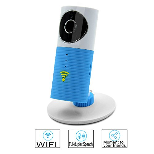 Smart WIFI Camera Besteye Clever Dog Smart Camera with IR Cut Night Vision Max Support 32GB TF Card Wireless Surveillance WIFI Camera or Desk Network Camera-Orange IP camera