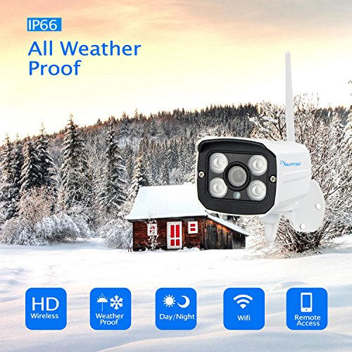 Amorvue 8 Channel 1080P Outdoor Wireless Security Camera System (NVR Security Camera Kit), 8 PCS 720P WiFi  Outdoor Bullet IP Cameras (Auto Pair, Plug and Play) No HDD