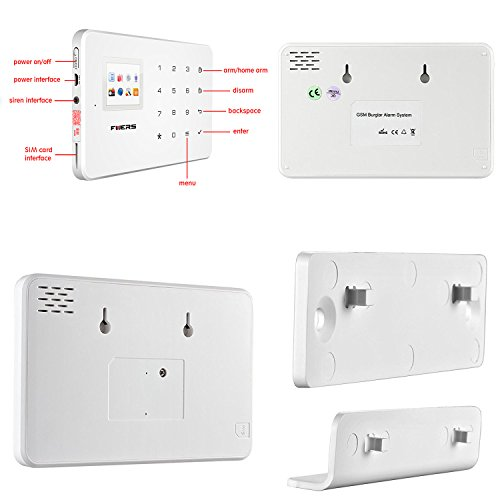 Fuers G183 Wireless Touch Keypad Home Office 3G Security Alarm System DIY Kit w/ WIFI 720P IP Camera ,Wireless Water Leak ,3 Wireless PIR Motion Detector,8 Wireless Door/Window Contacts