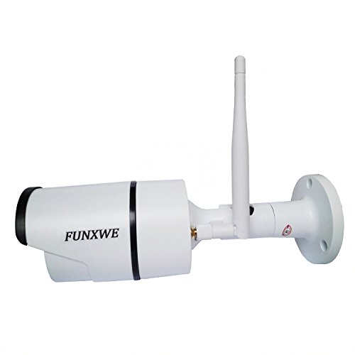 Funxwe 720P HD WiFi Bullet IP Camera Wireless H.264 Motion Detection Night Vision Waterproof Outdoor Free DDNS Remote View White