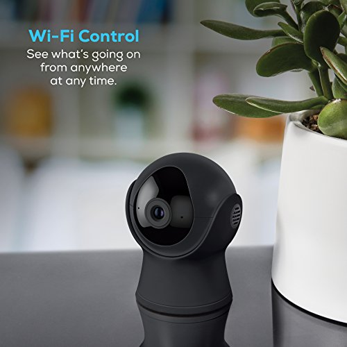 Geeni VISION 720P Smart Wi-Fi Camera Home Security System - No Hub Required - Gray