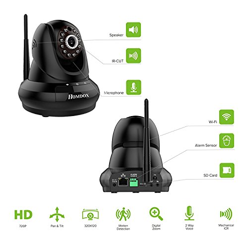 Homdox 720P HD WiFi IP
