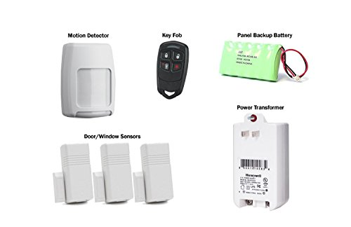 L5210PK LYNX Touch 5210 with (3) 5816WMWH Door/Window Transmitters, (1) 5834-4 Four-button Wireless Keyfob & (1) 5800PIR-RES Wireless Motion Detector