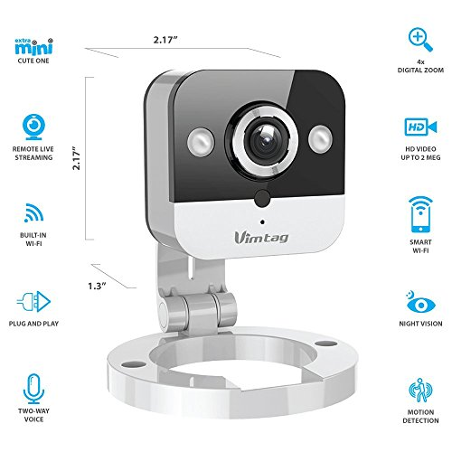 Vimtag M1 Mini Cube Security Devices IP Camera, Silver, M1 (M1 Mini Cube)