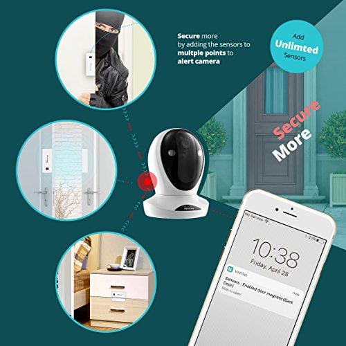 Vimtag Premium Home Security Kit | P1 ULTRA Camera w/ Magnetic Sensors, Wireless Video Monitoring and Surveillance, State of the Art Sensors, Pan/Tilt with Two-Way Audio & Night Vision, Plug/Play.