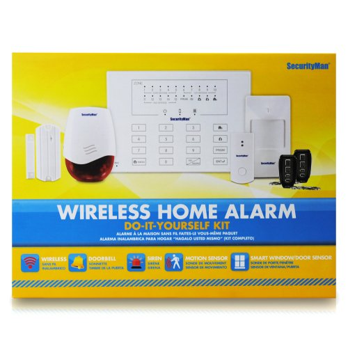 SecurityMan AirAlarmII Wireless Smart Home Alarm System Kit with Doorbell (White)