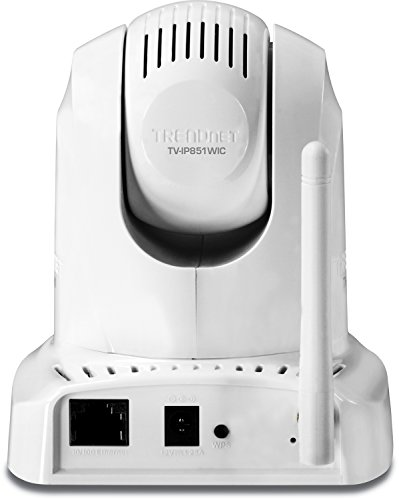 TRENDnet Wireless N Pan, Tilt, Zoom Network Cloud Surveillance Camera with 1-Way Audio and Night Vision, TV-IP851WIC (White)