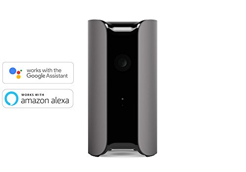 Canary View Indoor 1080p HD Security Camera with Wide-Angle Lens, Motion/Person Alerts, Works with Alexa, Pets/Elder/Baby Monitoring, Award-Winning Design - Graphite (CAN400USAGY)