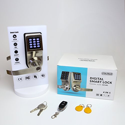 Keyless Electronic Digital Smart Door Lock, Keypad – Smartcode Security, Grant & Control Access for Home, Office (Gold)