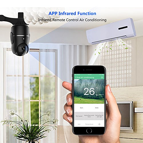 1080P Smart IP Camera, Wireless Security Camera for Home Baby Monitor System with Remote Controlling AC, APP 24H Customer Service, Motion Alarm, Night Vision Camera for Elder / Pet with IOS, Android
