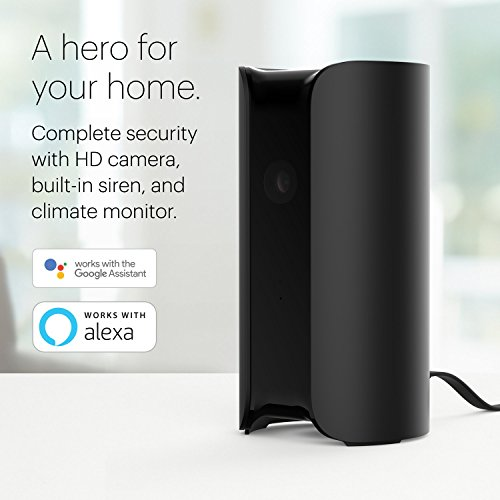 Canary All-in-One + 3 Months Membership: 1080p HD Wireless Security Surveillance System for Home, Office, Baby, Pet Monitor; Built-in Siren, Climate Monitor; Motion, Person, Air Quality Alerts – Black