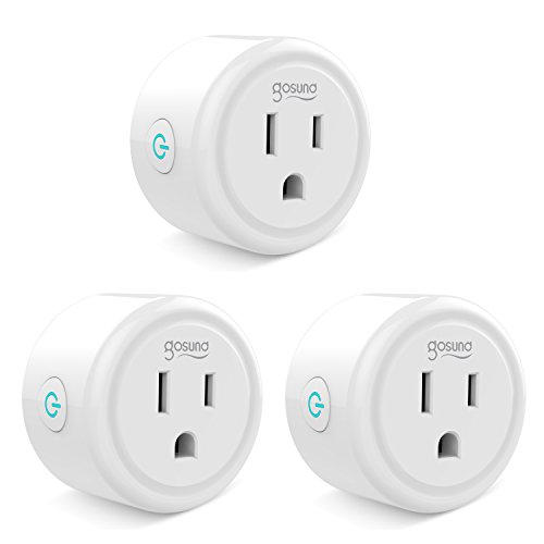 Mini Smart Plug Outlet with Timer Works with Amazon Alexa, no Hub Required, ETL and FCC listed Wifi enabled Remote Control Smart Socket by Gosund (White-3)