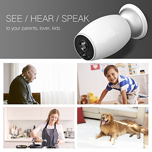 GJT Wireless IP Camera Battery Powered 720P Home Security Wifi Surveillance System with Free Cloud Storage, Night Vision, Remote View and 2-Way Audio for Home/Office/Baby/Pet Monitor for IOS Android