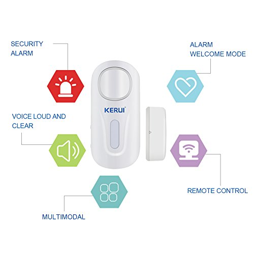 KERUI Door Window Alarm,D2 Remote Security Sensor System,Wireless DIY Magnetic Window Entry Contact Doorbell Easy Installation For Home Shop Company (2Pack)