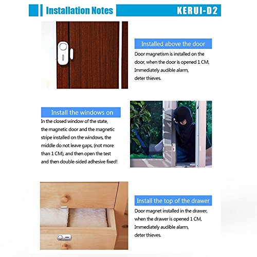 KERUI Door Window Alarm,D2 Remote