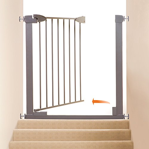 Dreambaby Boston Magnetic Auto Close Security Gate w/Stay Open Feature (29.5-38 inches, Taupe)