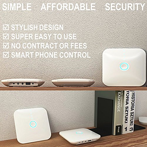 Smart Wi-Fi Alarm System Deluxe Kit with Wireless Door/Window Sensors, Motion Detectors, Remotes and Smartphone Control - Complete DIY Home Security with Free App and No Fees