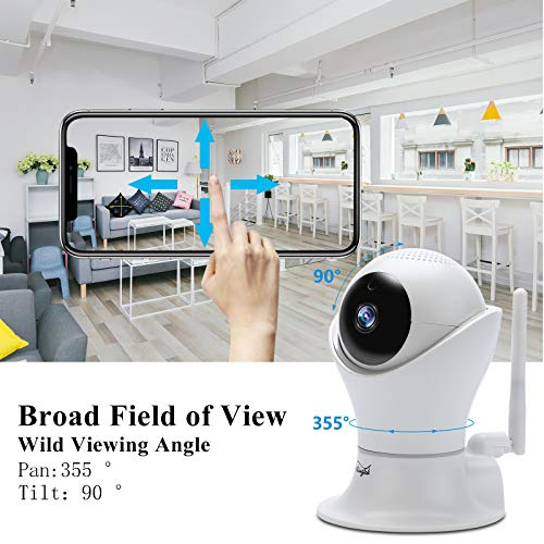 WiFi IP Camera 1080P HD Wireless Camera Baby Pet Monitor Surveillance Home Security Camera Nanny IP Cam Pan/Tilt Motion Detection Two-Way Audio Night Vision Wireless IP Camera