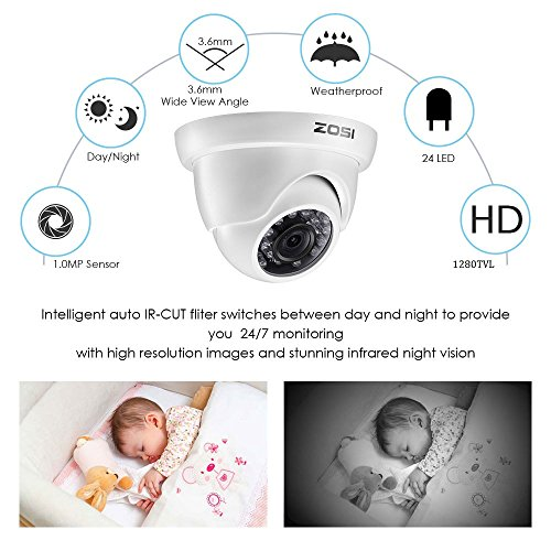 ZOSI 720p HD-TVI Home Security