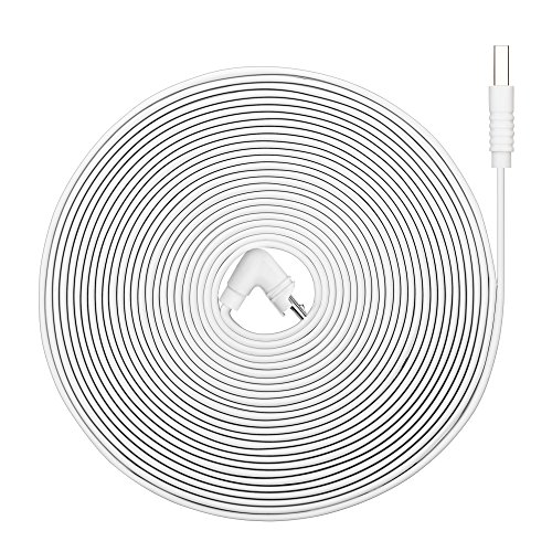 Online-Enterprises 70 Degree 20 Foot Charging Super Power Cable- Fits, Arlo Pro, Arlo Pro 2, Arlo GO -Indoor/Outdoor Flat Cable, Weatherproof (70 Degree White Power 20ft Flat Cord)