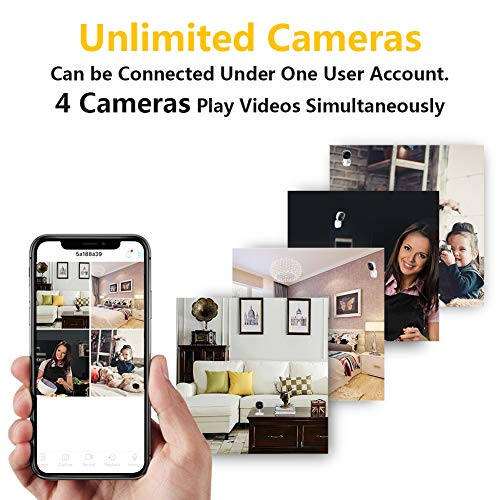 [Full HD] 1080P Wireless IP Camera,WeiSocket 180 Degree Panoramic Security Camera with Motion Detection,Night Vision,Two-Way Audio,Home Security IP Camera for Office/Baby/Nanny/Pet Monitor,2 Pack …