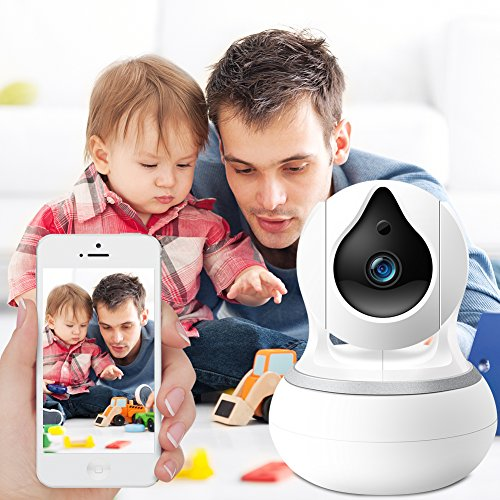 HD IP Security Camera with Night Vision, N2N 720P Wireless Home Surveillance Camera Systems with Motion Detection, Pan/Tilt/Zoom & 2 Way Audio for Pet, Nanny Cam, Baby WiFi Monitor