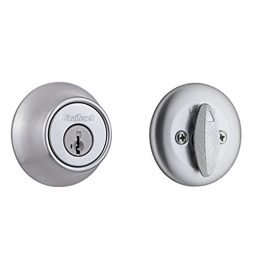 Kwikset 660 Single Cylinder Deadbolt featuring SmartKey Security in Satin Chrome