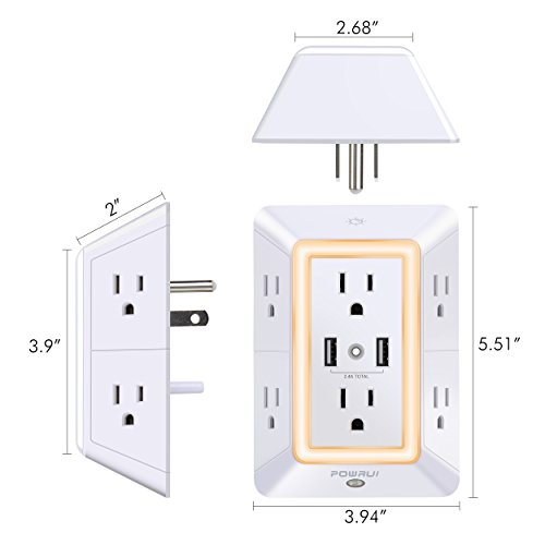 USB Wall Charger, Surge Protector,