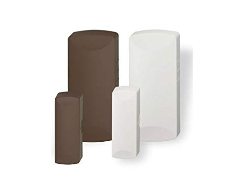 2gig & Vivint Compatible Door and Window Sensor with Built in Bypass - White/Brown Color Change Plates
