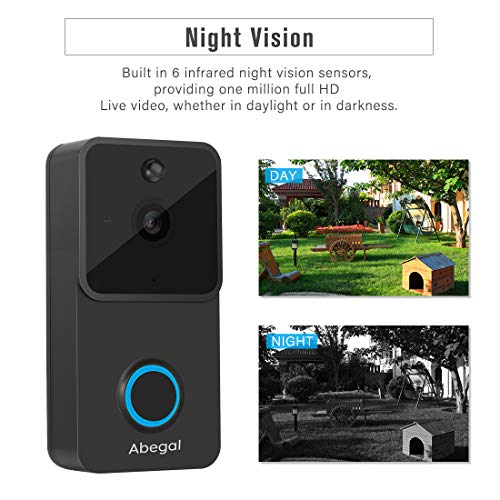 Abegal Wireless Video Doorbell, 1080P
