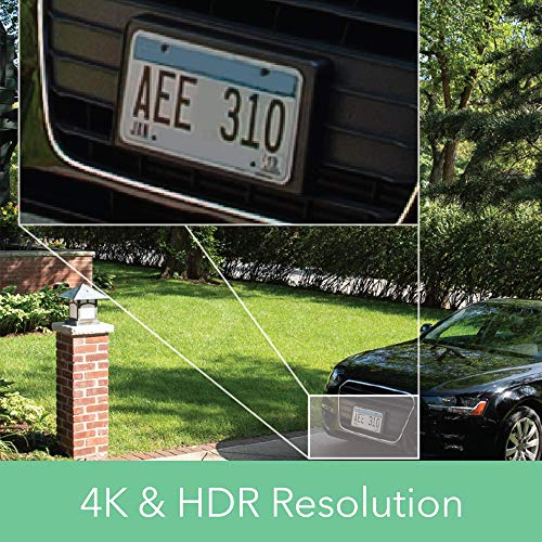 Arlo Ultra - 4K UHD Wire-Free Security 1 Camera System | Indoor/Outdoor Security Cameras with Color Night Vision, 18° View, 2-Way Audio, Spotlight, Siren | Works with Alexa | (VMS5140)
