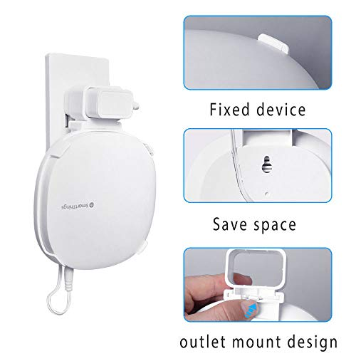 Holder for Samsung SmartThings Hub V3, Outlet Wall Mount Stand for Samsung SmartThings Smart Home Hub V3, White
