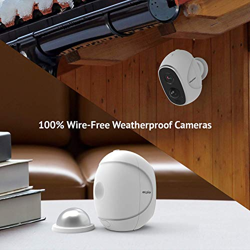 LaView ONE Link Wireless Outdoor Camera System + Smart Station, Two Rechargeable Battery Powered Security Cameras + Two Way Audio, PIR Thermal Detection, Compatible with Amazon Alexa, Weatherproof