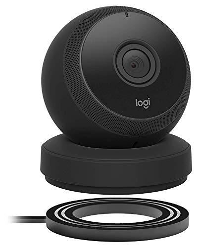 Logitech Circle Wireless HD Video Battery Powered Security Camera with 2-Way Talk, Compatible with Alexa (2 Pack, Black)