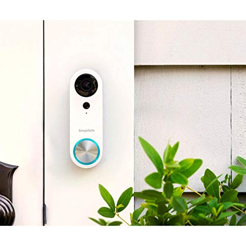 SimpliSafe Pro Smart Home Security Wi-Fi Video Doorbell Wired Camera, White