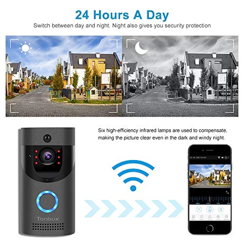 TONBUX Smart Video Doorbell Wireless