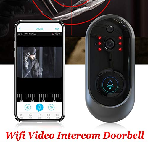 TOOGOO M108 Wireless Wifi Video Doorbell Camera Ip Ring Doorbell Two Way Audio App Control Battery Powered For Ios Android Device