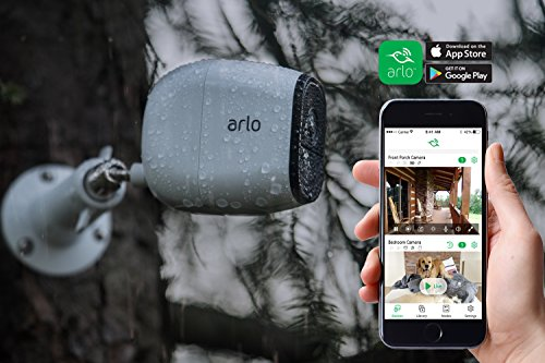 Arlo Pro - Renewed - Wireless Home Security Camera System | Rechargeable, Night vision, Indoor/Outdoor, HD Video, 2-Way Audio | Cloud Storage Included | 5 camera kit (VMS4530-100NAR)