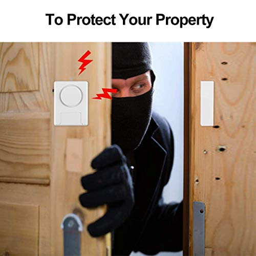 Door Window Alarms, Toeeson 120 DB Pool Alarm for Doors, Magnet Triggered Window Door Burglar Alarms