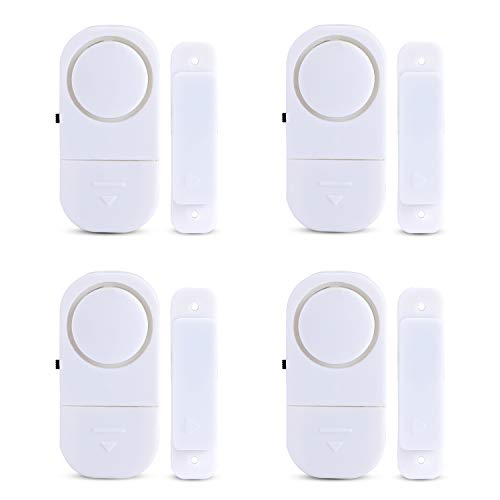 Personal Security Window Door Alarm 4 Pack Home Protection Against Burglar Wireless Chime Easy Installation