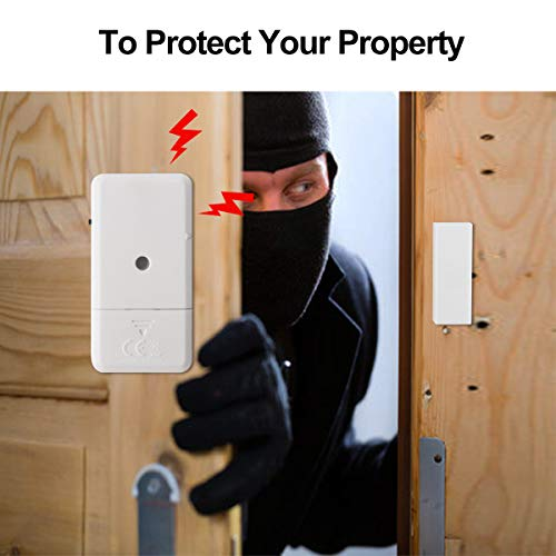 Window Door Alarms, Toeeson 110 DB Pool Door Alarms, Magnet Triggered Mini Home Security Alarms