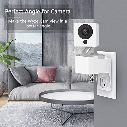 Wyze Cam Outlet Wall Mount, Caremoo AC Outlet Mount Bracket Holder for Wyze Cam V2 Camera, No More Messy Wires or Wall Damage (1 Pack)