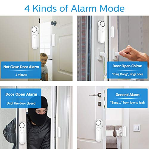 Door Alarm,Secrui 120dB Wireless Door