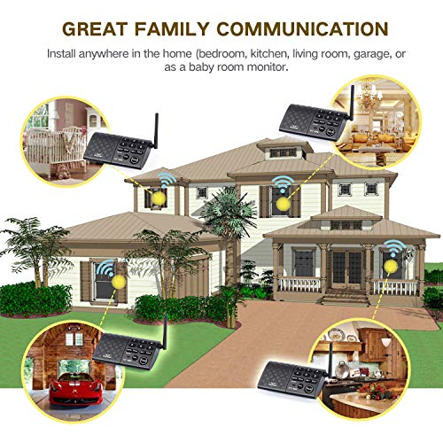 Hosmart Portable Wireless Intercom System,1/2Mile