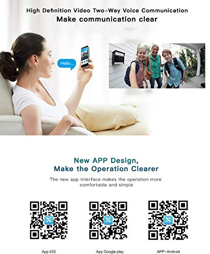IP Camera Doorbell, Smart Wireless Doorbell Motion Detection Night Vision WIFI Doorbell, Remote control 720p HD WIFI Security Camera, Real Time Two-way Audio