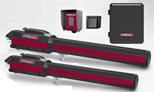 Liftmaster LA500PKGU 24VDC Residential/Light Commercial Dual Linear Actuator Kit, Battery Back Up, Receiver & Photocell in & Receive A Free Liftmaster Gift Bundle (Cap, USB Charger & 4 in 1 Driver)
