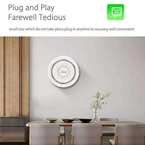 NEO Coolcam WiFi Siren Alarm Sensor and App Notification Alerts Compatible Alexa Echo Google Home
