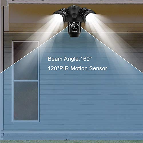 Rraycom Floodlight Camera with Motion Sensor Light, 1080P HD Wireless Security Camera System Two Way Talk with Motion-Activated & Siren Alarm,Remote Control for Backyard&Outdoor,Weatherproof