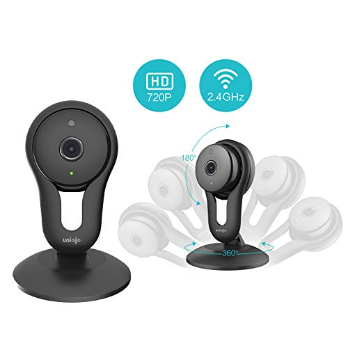 UNIOJO WiFi Security Camera Indoor, Home Surveillance IP Camera with Night Vision, Movement Tracking, Activity Alerts, Cloud Service Available for Baby/Elder/Pet Monitor (2 Pack)